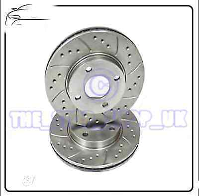 Performance Drilled & Grooved Front Brake Discs to fit Ford Fiesta MK7 1.6 ST