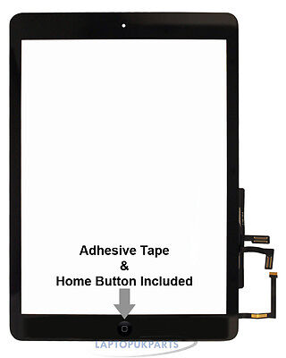 New For Apple Ipad Air Md785B/a Touch Screen Digitizer Lens Glass Panel Uk Black
