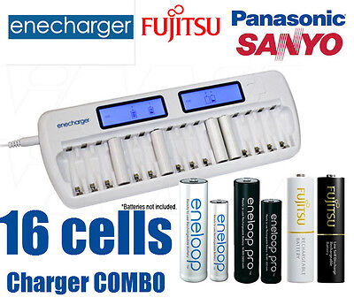 16 Cells Automatic quick charger/discharger / eneloop pro AA AAA