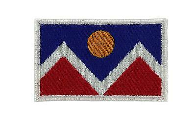Patch ecusson brode Drapeau denver usa Thermocollant Backpack