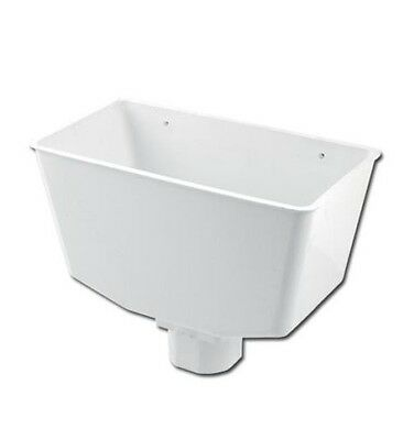Rain water Down Pipe Hopper White for 68mm Round 65mm Square Down pipe
