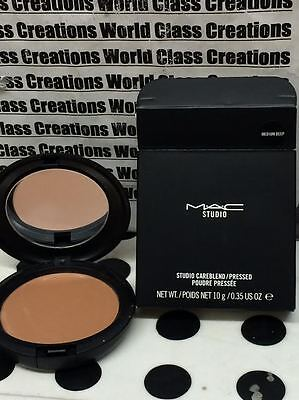 MAC STUDIO - STUDIO CAREBLEND/PRESSED POWDER MEDIUM DEEP - 0.35 OZ/10g