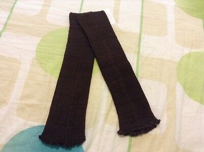 "NWOT KD Dance Women's Arm Warmer Brown Color striped 15"" Size M"