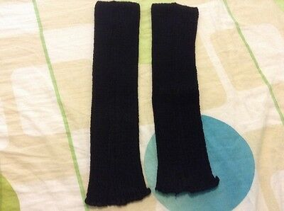"NWOT KD Dance Women's Arm Warmer Black Color striped 15"" Size M"