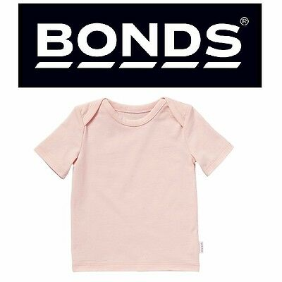 Baby Bonds Girls Cotton Stretchies Tee Tshirt Short Sleeve Size 000 00 0 1 2