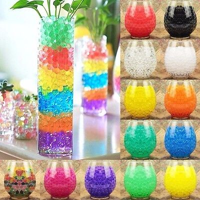 Water Plant Flower Colorful Jelly Crystal Soil Mud Hydro Gel Pearls Beads Balls