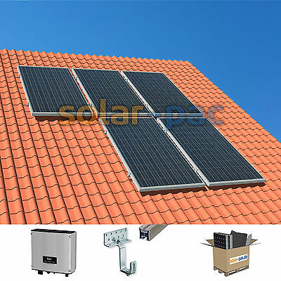1 35 kw plug and play solaranlage pv komplettpaket 5 module wechselrichter eur. Black Bedroom Furniture Sets. Home Design Ideas