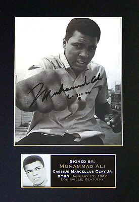 MUHAMMAD ALI Boxing Quality Signed Mounted Autograph Photo Print (A4) No30