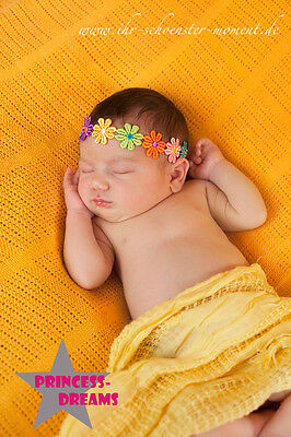 Princess-Dreams 211 Baby Mädchen SOMMER Blumen-Haarband Fotoshooting Shooting
