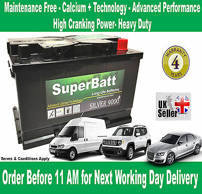 OEM Replacement Heavy Duty Car/Van Battery SB TYPE 100 / 096 12V 75AH 4Yrs Wrnty