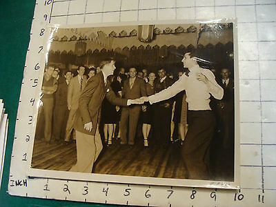 vintage 8 x 10 Photo from 1940's/50's LONG ISLAND:2 MEN DANCING all watching