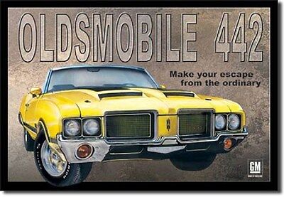 "16"" X 12 1/2"" TIN SIGN OLDSMOBILE 442 METAL SIGN NEW"