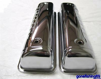 1954 - 1964 Ford Small Block Ford Y Block Valve Covers Chrome 272 292 312 Sbf