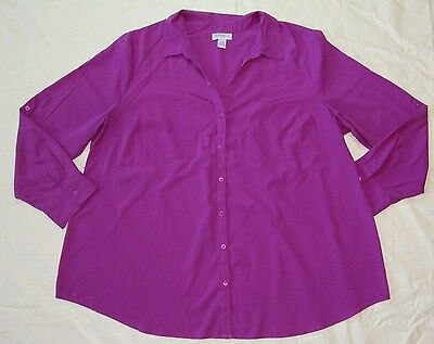 WOMENS purple maternity SHIRT TOP BLOUSE = MOTHERHOOD MATERNITY = SIZE XL = ME82