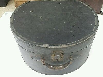 Victorian Ladies Hard Case Linen Suitcase Travel Excelsior Stamford Conneticut