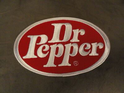 Dr Pepper Round Patch Large -New Vintage Original 5x8 1/4
