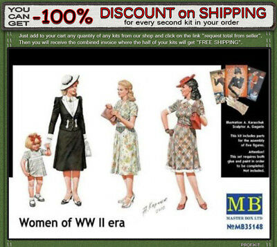 """Master Box 35148  """"Women of WWII"""" Scale 1/35"""