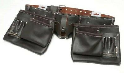 CHOOSE * 13 POCKET OIL TANNED LEATHER TOOL APRON BELT NEW BUILDPRO 12