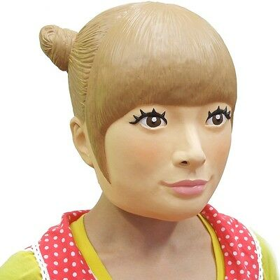 Harajuku girl Rubber Mask Cosplay Party Toy Head Made in Japan NEW