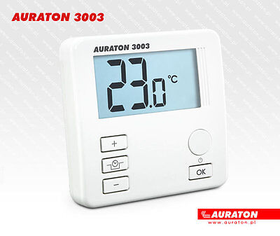 Temperature Controller Room Thermostat Backlit Lcd Auraton 3003