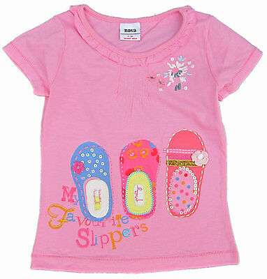 BNWT Girls Pink Top with EMBROIDERY work Size : 18 M to 6 Yrs