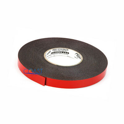 """3//4/"""" Multi-Purpose Double-Sided Clear Thin Super Sticky Adhesive Tape 33 feet US"""