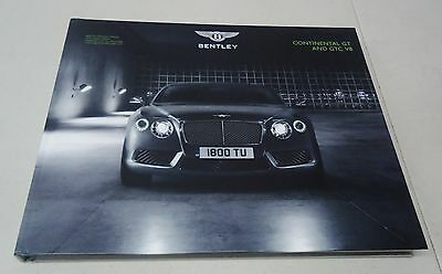 "Bentley ""continental Gt And Gtc V8"" Hardback Dealer Brochure Book"