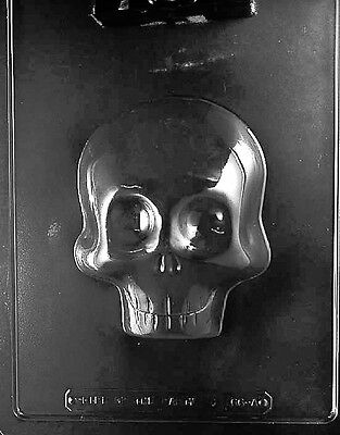 LARGE 3D SKULL MOLD chocolate candy plaster day of the dead sugar skulls