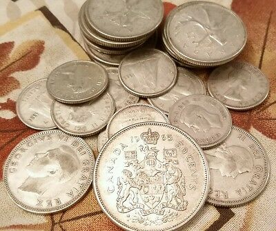 $5.25 Face Value Canadian Silver Coins .800