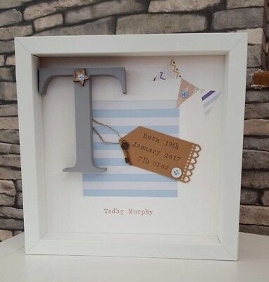🎀 Personalised New Baby, Birth, Christening, Boy & Girl Frames Gift/Keepsake