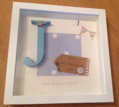 💙 Personalised New Baby, Birth, Christening, Boy & Girl Frames Gift/Keepsake