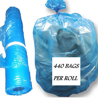 Plastic Laundry or Soiled Linen Bags on Roll Heavy-Duty, Disposable  Blue Vented