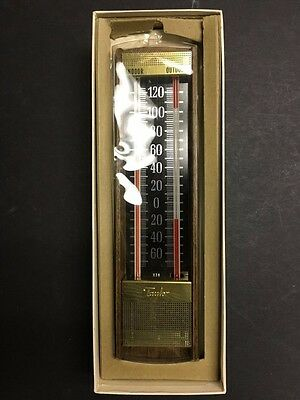 Vintage Taylor 5332 Indoor/Outdoor Thermometer in Box, Unused - BL35