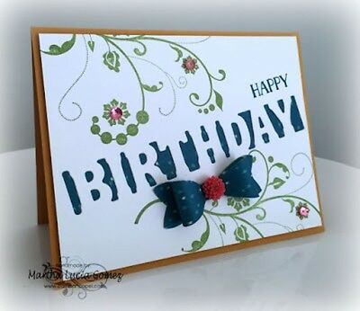 Birthday cut out die - for use in most cutting systems