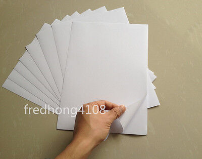 A4 White Glossy Self Adhesive Sticker Photographic Photo Inkjet Printer Paper