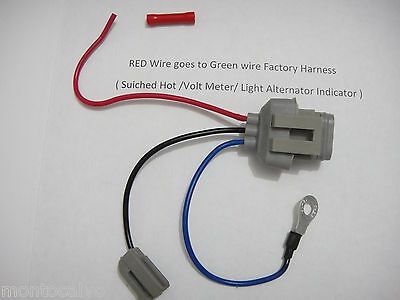 Ford 3G Alternator Conversion Harness Connector 1 wire Mustang and other Fords