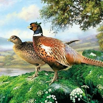 4 x Paper Napkins - Pheasant - Ideal For Decoupage / Decopatch (2078)