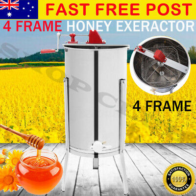 4 Frame Stainless Steel Honey Extractor Manual Honey Beekeeping Spinner