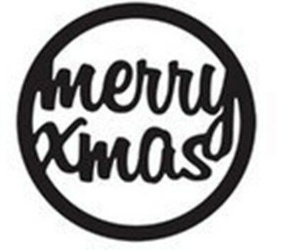 Merry Xmas die - for use in most cutting systems