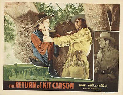 Fighting with Kit Carson 1947 Original Movie Poster Western