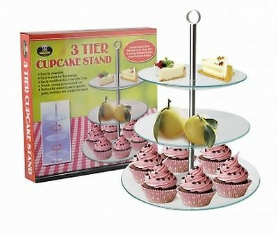 3 Tier Cupcake Cup Cake Stand Display for Party Wedding Birthday Event high tea