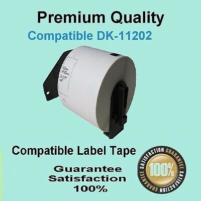 8 Roll Compatible Brother DK-11202 Shipping/Name Badge Refill Label 62 x 100mm