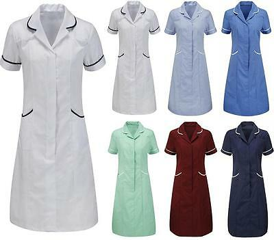 Womens Dress Tunic Nurse Nurses Uniform Vet Medical Dental Therapist Healthcare