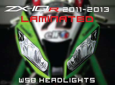 ZX-10R 11-13 Kawasaki Headlight sticker set WSB racing graphics track zx10r gift