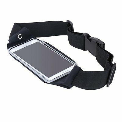 Sport Running Belt Waist Pack With Touch Screen Window Apple iPhone 5/5S (Black)