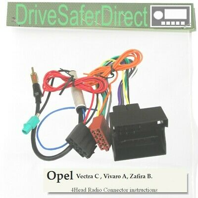 4-Head-8404-73 Radio Cable for Pioneer Android ISO/Opel Vectra C