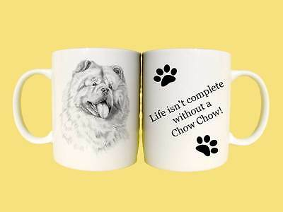 Chow Chow dogs ceramic mug gift with choice of 6 captions