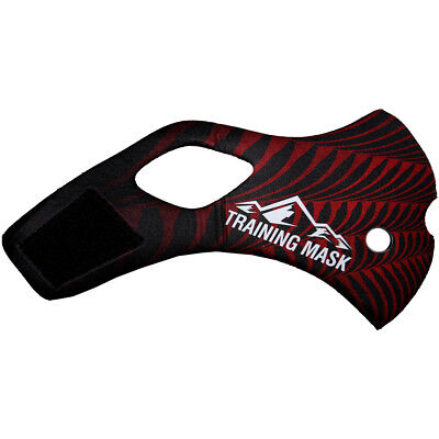 Elevation Training Mask 2.0 Black Widow Sleeve (Black/Red)
