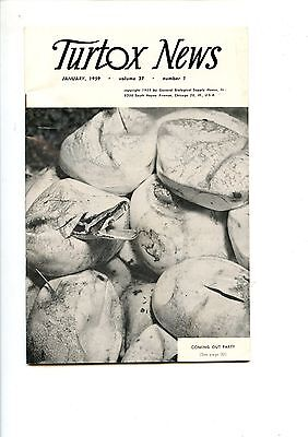 Old TURTOX NEWS January 1959 snakes emerging from eggs