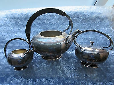 Old Vintage Retro Meriden Silver Plated Tea Set Art Deco Style
